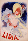 Vintage Lidia Art ad print poster, large 4 sizes available