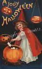 Vintage Halloween Art ad print poster, large 4 sizes available