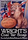 Vintage Wrights Soap ad print poster, large 4 sizes available