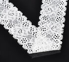 """wholesale lots Yards White Stretch Floral Scallop Lace Edge Trim 1-3/8"""" wide"""