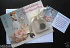 GAY WEDDING LUCKY SIXPENCE GIFT CARD & SILVER CHARM - FLORAL MALE OR FEMALE