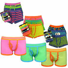 9 Pairs Boys Cotton Rich Designer Boxer Shorts Trunks Underwear 7-13 years
