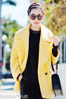 H&M Trend Yellow Marl Oversized Wool Blend Coat Jacket Bloggers UK 12 14 16