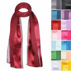 Quality Light Weight Plain Satin wide Stripe Classic Type of Neck / Head Scarves