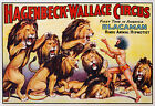 Hagenbeck-Wallace Circus Vintage advertisement print poster, 4 sizes available