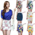 Women Summer Sexy High Waist Flower Printing Skinny Mini Bandage Hip Skirt Dress