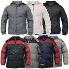mens outerwear hoody warm casual winter padded coat hooded lined zip jacket
