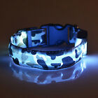 SALE~1 LED Pet Dog Puppy Cat Flash Night Light Up Safety Collar Adjustable S M L
