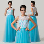 Stunning Vintage Sexy New Long Lace Bridesmaid Formal Evening Prom Wedding Dress