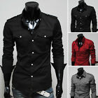 In Vogue Men Summer Autumn Spring Long Sleeves Slim Fit Lovely Dress Shirts New