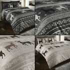 DEER STAG SNOWFLAKE THERMAL FLANNELETTE QUILT DUVET COVER BEDDING SET PILLOWCASE