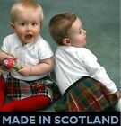 NEW SCOTTISH VELCRO ADJUSTABLE BABY TARTAN KILT MADE IN SCOTLAND 12 - 24 MONTHS