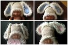 Baby Easter bunny rabbit Hat,  ears up or newborn photo prop gift boy or girl