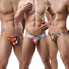 Sexy Men Briefs Underpants Cotton Color Printed Thongs&G-string T-Back Underwear