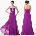 Sexy Party Ball Prom Evening Cocktail Bridesmaid Gown Long Wedding Dress Purple