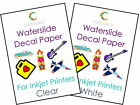 10 Pack Water Slide Decal Paper A4 Waterslide Inkjet Transfer Craft Sheets