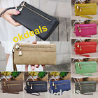 Women Wallet Wristlet Lady Card Coin Holder Long Wallet Clutch Zipper Purse Bag