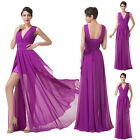 Sexy Women Dresses Long Chiffon Bridesmaid Dress Evening Party Ball Gown US 2-16