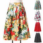 New Vintage Swing Jive Dancing Party 40s 50s Floral Rockabilly Tea Skirt XS S~XL