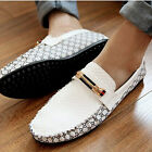Trendy Men's Comfort Leather Casual Slip On Loafer Shoes Moccasins Driving Shoes