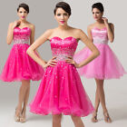 ❤Stunning ❤ Formal short Evening Ball Gown Party Prom Bridesmaid Dress Size 6-20