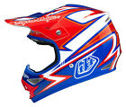 NEW 2015 TROY LEE DESIGNS TLD AIR CHARGE MX HELMET WHITE/ BLUE ALL SIZES