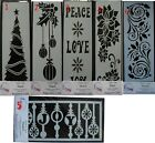 "Imagination Crafts MASK Stencil template PANEL 7.5"" x 3""  ASSORTED CHRISTMAS"