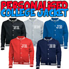 Personalised FRONT & BACK American College Letterman bomber Baseball Jacket JH41