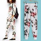 Woman  Beautiful Slim Fashion Colorful Floral Comfortable Loose Pants Trousers