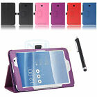 Folio Leather Case Cover With Stylus for ASUS MeMO Pad 7 ME176CX ME176C 7 Inch
