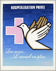 Vintage French Hospital advertisement print poster, 4 sizes available