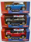 BMW MINI COOPER S with Union Jack Roof Toy Car Model 1:30 Scale Present BOXED