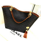 Nice Female Canvas Bag Shoulder Chain Bag Womens Charming Ladies Black White