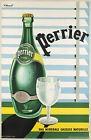 Vintage Perrier ad print poster, large 4 sizes available