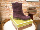 Naturalizer Basha Purple Suede Pull On Mid-Calf Boots NEW