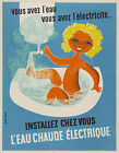 Vintage French print poster, large 4 sizes available