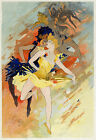Vintage French Moulin Rouge ad print poster, large 4 sizes available