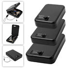 Portable Combination Lock Gun Safe Box Small Steel Cable Locking Hard Case Car