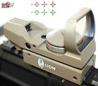 Red Dot Reflex Sight Green Holographic Scope Tactical Rifle Mount 20mm Rails Tan