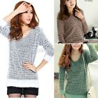 Knitwear Womens Sweater Jumper Pullover Soft Long New Pattern Thick Coat BE0D