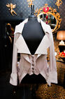 Ladies pastel pink new leather waistcoat designer jacket blazer was £745 size 12