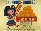 Vintage French Chamonix-Orange Ad print poster, large 4 sizes available