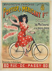Vintage French Portier & Mericant Ad print poster, large 4 sizes available