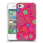 HEAD CASE PSYCHEDELIC PAISLEY TPU GEL BACK CASE COVER FOR APPLE iPHONE 4S