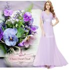 BNWT RITA Lilac Chiffon Prom Bridesmaid Evening Ballgown Maxi Dress UK 8 -18