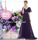 BNWT RITA Purple Chiffon Prom Bridesmaid Evening Ballgown Maxi Dress UK 8 -18