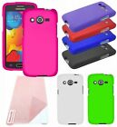 For Samsung Galaxy AVANT G386 Cover Hard Rubberized Snap Case + Screen Protector