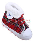 Toddler Baby Boy Gril Faux Fleece Lined Crib Shoes Boots Newborn to 18 Months