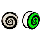 Acrylic GLOW IN THE DARK Spiral Single Flared Plugs Ear Earlet Purple