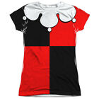 Harley Quinn Costume Joker Batman Licensed Sublimation Poly Junior Shirt S-XL